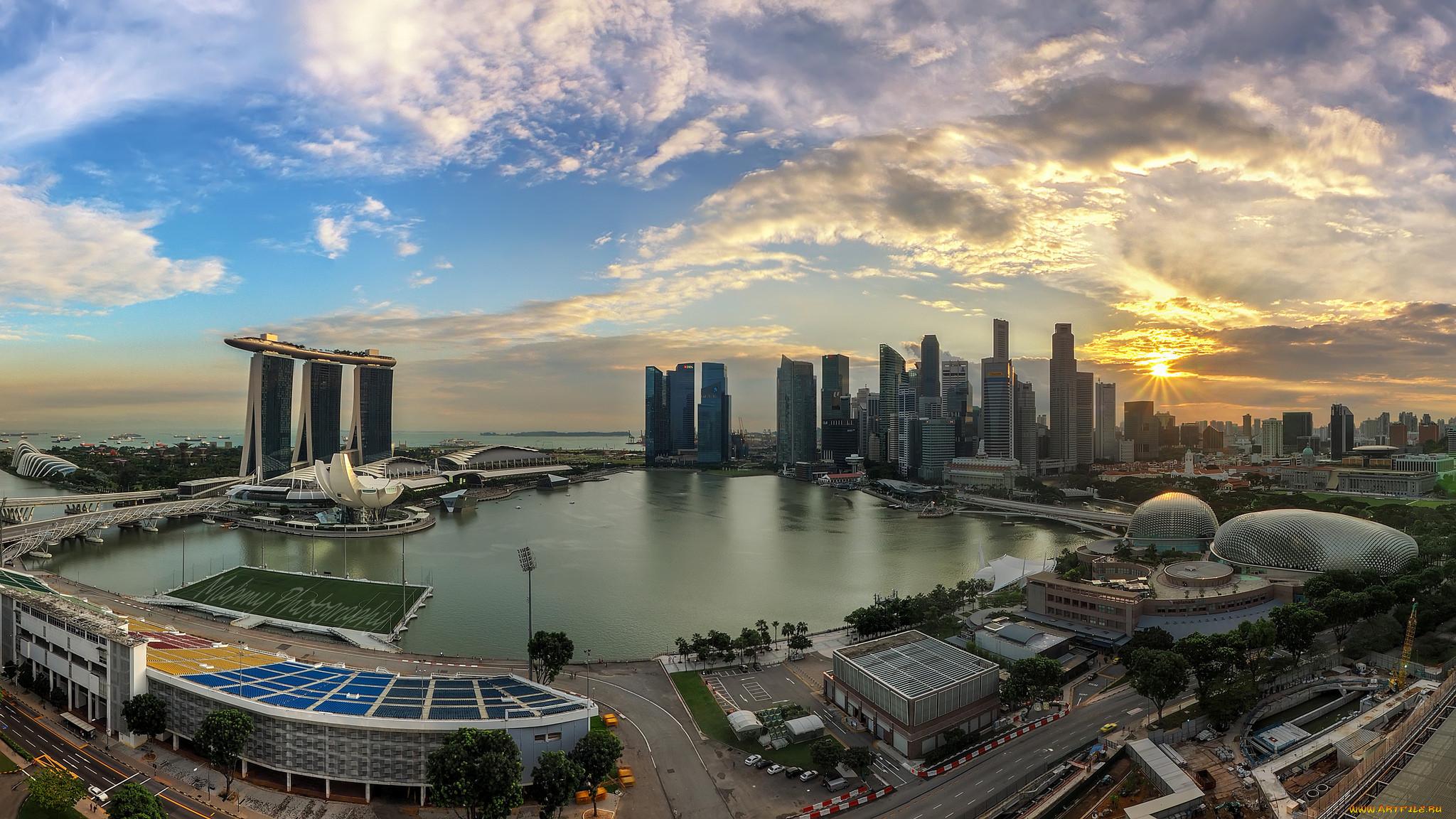 Сингапур днем фото на рабочий стол